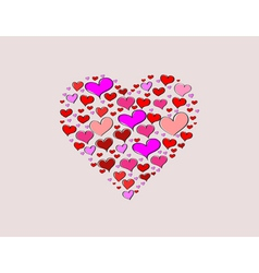 Hand-drawn Valentines Day big love heart vector image vector image