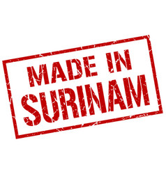 Made in surinam stamp vector