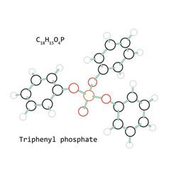 molecule triphenyl phosphate c18h15o4p vector image