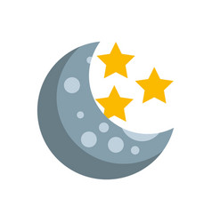 Natural satellite moon with stars vector