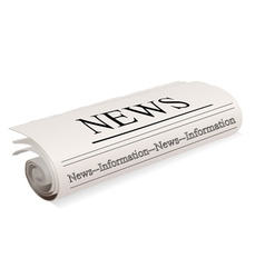 newspaper on white vector image vector image