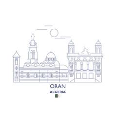 oran city skyline vector image