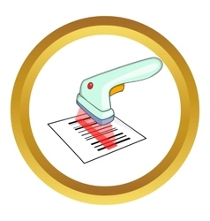 Scanner icon vector