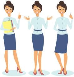 secretary gesturing vector image