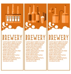 Set of banner for brewery industry with brewery vector image vector image