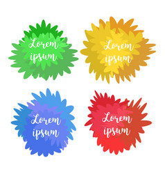 Set of templates logos signs watercolor flat vector