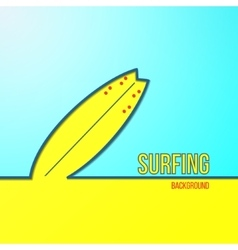 Surfing background with sand and sky in vector