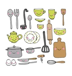 A set of kitchen utensils vector