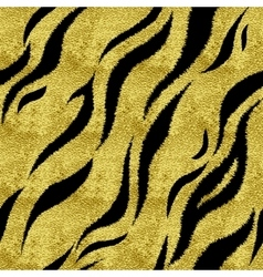 Gold tiger pattern vector