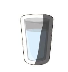 Isolated drink glass design vector