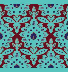 ottoman turkish style floral seamless pattern vector image