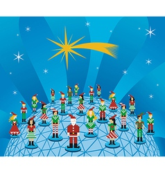 Christmas global social media network vector