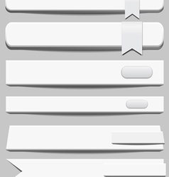 3d White Banners vector image