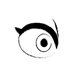 cartoon eye people vision look optic icon vector image