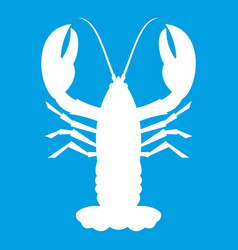 Crayfish icon white vector