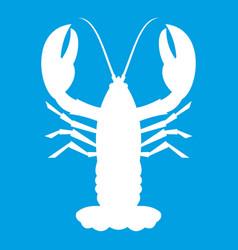 crayfish icon white vector image
