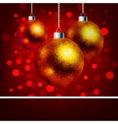 Christmas baubles with bokeh background EPS 8 vector image