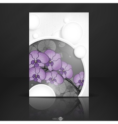 Abstract background with white paper circles vector