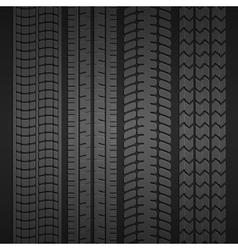 Wheel tire set vector image