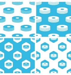 Cd stack patterns set vector