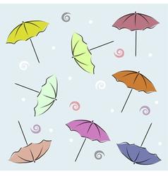 Backdrop with umbrellas vector