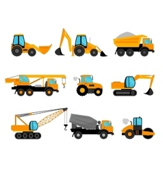 Building construction machinery equipment vector
