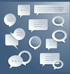 Abstract paper speech bubbles set vector image