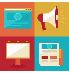 advertising and promotion concepts and icons in fl vector image