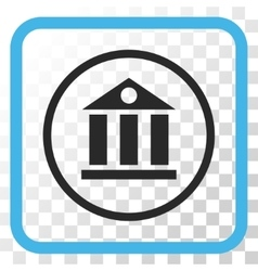 Bank building icon in a frame vector