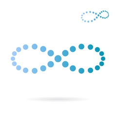 Blue dotted infinity sign vector image