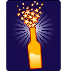 bottle star vector image vector image