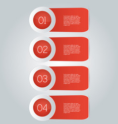 business infographics template red color vector image vector image