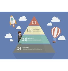 Business woman presenting the pyramid chart vector