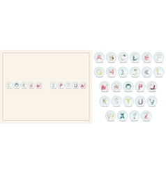 Card with alphabet set vector image vector image
