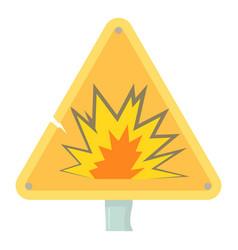 Danger sign icon cartoon style vector
