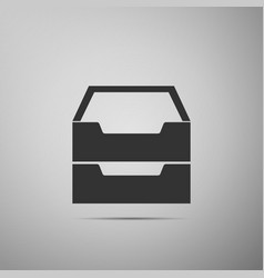 document inbox flat icon on grey background vector image vector image