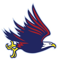 eagle mascot flying vector image vector image