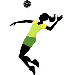 Female volleyball player vector image vector image