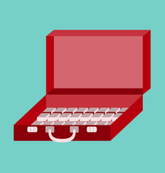 flat icon on stylish background case of money vector image vector image