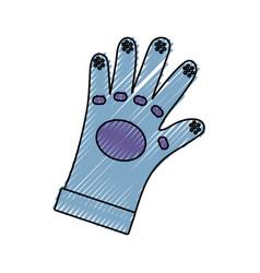 Glove industrial security vector