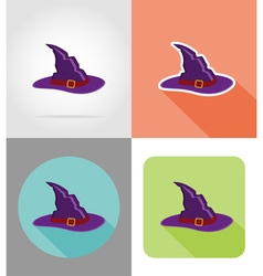 Halloween flat icons 13 vector