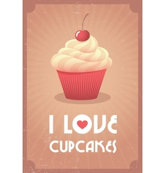I love cupcakes vector image vector image