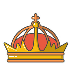 Imperial crown icon cartoon style vector