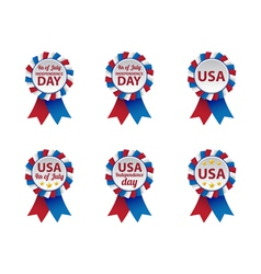 Independence day badges vector image