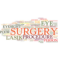 Lasik eye surgery is it right for you text vector
