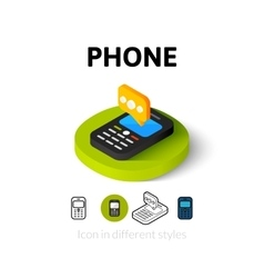 Phone icon in different style vector