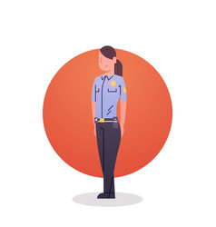 Police woman icon female cop guard security vector