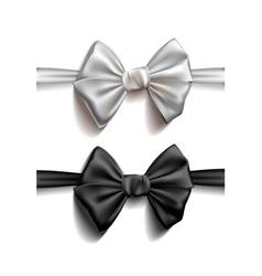 Realistic ribbon bows vector