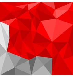 Red and grey triangle flat mosaic background vector
