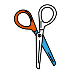 Scissors sewing isolated icon vector